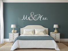 Vinyl Decals Wall Decal Mr. and Mrs. Decal  by VinylArtByAlison, $20.00