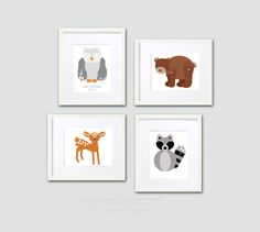 Pitter Patter Prints will turn your tot's footprints into a grouping of four one-of-a-kind woodland animal prints ($60).