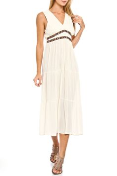 Jonanna new york - Al Sleeveless Maxi Dress in White