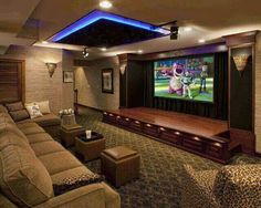 Home Theater ... the stage idea is cute for little plays :)