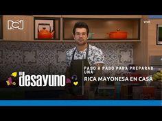 El Desayuno | Paso a paso para preparar una rica mayonesa en casa - YouTube Chefs, Youtube, Home, Mayonnaise, Step By Step, Recipes, Youtubers, Youtube Movies