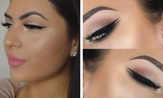 11. Pink Glitter Eyes + Pink Lips Glitter can be a girl's best friend, especially on her wedding day. Glitter on your eyes, as well as your lips, will definitely stand out. This is makeup look issoftandgirly. As you can see, you don't need to use bright colours to sparkle. 12.Smokey Brown Cut Crease Add …