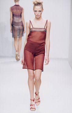 SS 1997 Womenswear Milan Fashion Weeks, 90s Fashion, Runway Fashion, High Fashion, Fashion Show, Fashion Design, London Fashion, Transparent Clothes, Prada Spring