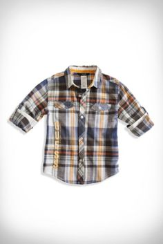 Little Boy Vision Plaid Shirt (2-7) | guess kids