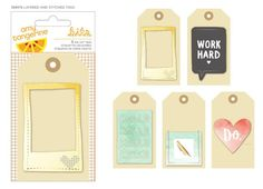 Amy Tangerine - Stitched Collection - Layered Tags - SharBearCrafts