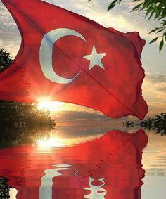 gölgeli türk bayrak resimi