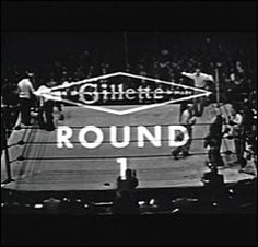 """The Friday Night Fights sponsored by the Gillette Razor Company was a TV staple from 1948-1960.  The theme song was """"The Gillette Look Sharp March"""".  I can still remember it."""