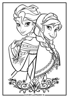 Kleurplaten Frozen Elsa En Anna.36 Best Frozen Kleurplaten Images Coloring Books Coloring Pages