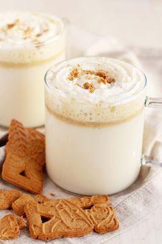 Weiße Heiße Schokolade mit Spekulatius