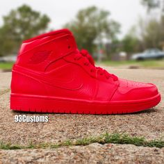 cca9337179e0 Custom Red October Air Jordan 1's! Make sure to follow on Instagram,  Twitter, YouTube, & Facebook! @93customs Check out all the Custom Sneakers  & Sneaker ...