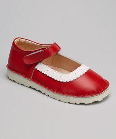 Red & White Mary Jane