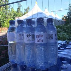 Pyhää Vettä -pullot TikkurilaFestarilla kesä 2015 Water Bottle, Drinks, Drinking, Beverages, Water Bottles, Drink, Beverage