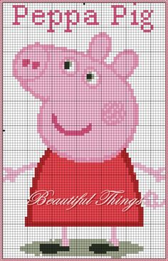 "My creations room: ""Peppa Pig"" Jumper Knitting Pattern, Knitting Charts, Knitting Patterns Free, Cross Stitch For Kids, Cross Stitch Baby, Peppa Pig, Cross Stitching, Cross Stitch Embroidery, Embroidery Patterns"