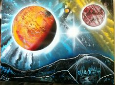 """""""Planets of the North Star"""" - Spray Paint Art by Markus Fussell"""