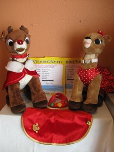 Build A Bear BABW Rudolph Clarice Lights Up Orig Clothes Capes Neckbands | eBay