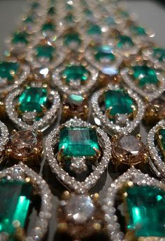 bracelet: columbian emeralds and diamonds...
