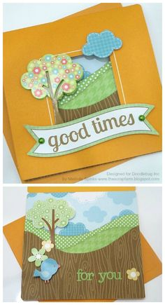 Doodlebug Design Inc Blog: Framing Cards with Kiwi Lane