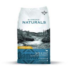 Diamond Naturals Skin & Coat Real Meat Recipe Natural Dry Dog Food with Wild Caught Salmon¡­ - To buy again Natural Dog Food, Natural Skin, Salmon Potato, Grain Free Dog Food, Complete Nutrition, Dry Dog Food, Pet Food, Puppy Food, Holistic Nutrition