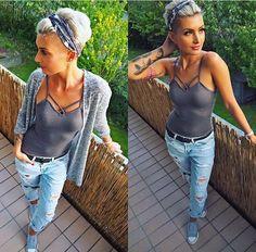 Likes, 52 Comments – Jenny Schmidt ( Pixie Styles, Short Styles, Curly Hair Styles, Pixie Hairstyles, Cool Hairstyles, Bandana Hairstyles Short, Headbands For Short Hair, Outfits For Short Hair, How To Wear Headbands