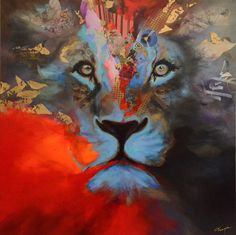 Annabelle Marquis art www.annabellemarquis.com #lion #paintings #art