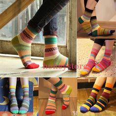 Unisex de Algodón de La Raya Calcetines de Diseño Multi-Color de Moda Vestido de Los Hombres Calcetines de Las Mujeres
