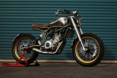"Brat Style ""Spitfire"" by CCM Motorcycles #motorcycles #streettracker #motos 