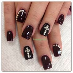 Designs, Big Day 3, Acrylic Nails With Crosses, Nail Designs, Cross ...