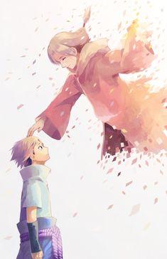 Sasuke and Itachi parting
