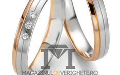 Verighete aur culori combinate de 3mm MDV4009 #verighete #verighete3mm #verigheteaur #verigheteauraplicatie #magazinuldeverighete Aur, 50 Euro, Bangles, Bracelets, Model, Jewelry, Crystal, Diamond, Jewellery Making