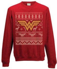 wonder woman Christmas sweater.. I need this!!