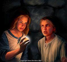 Princess Eilonwy and Taran (Black Cauldron)