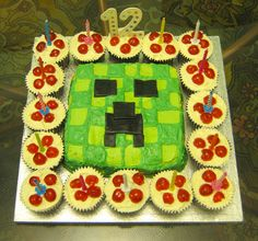 Minecraft Creeper Cake by ShouggieBug, via Flickr
