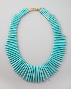 280aaa0ce23f Kenneth Jay Lane Turquoise Spike Necklace