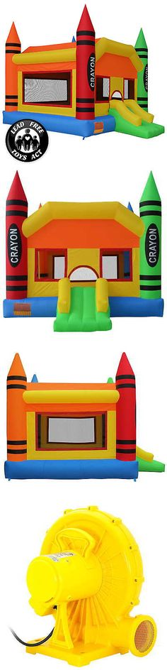Inflatable Bouncers 145979: Crayon Theme Bounce House Jumper Castle Bouncer Inflatable With Blower -> BUY IT NOW ONLY: $469.99 on eBay!