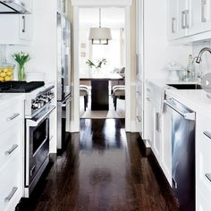 galley kitchen ideas for small and narrow spaces a house is not a rh pinterest com