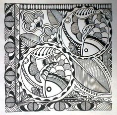 madhubani art - Painting by vidya rani in creation at touchtalent 28867