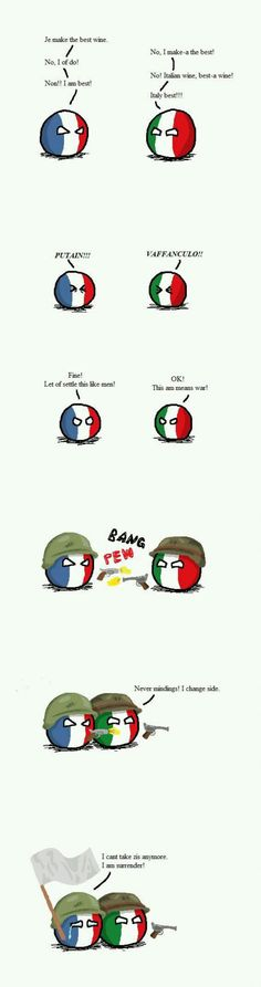 How I imagine the war between Italy and france
