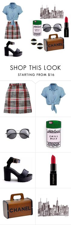 """""""NYFW"""" by dreamarie151 on Polyvore featuring Carven, Wood Wood, Smashbox, Chanel, Kate Spade, women's clothing, women, female, woman and misses"""