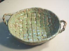 Handbuilt Pottery Stoneware Weaved Fruit by LindaMarshPottery, $45.00 Email for more information.