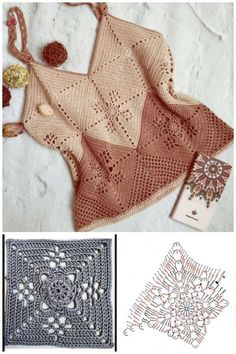 Crochet Doily Patterns, Crochet Diagram, Crochet Chart, Crochet Doilies, Crochet Lace, Crochet Stitches, Gilet Crochet, Crochet Blouse, Crochet Tank Tops