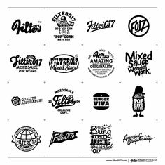 Filter017 LOGO & TYPO DESIGN COLLECTION 2006 - 2012 on the Behance Network