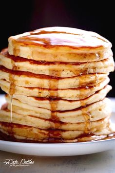 Look no further because a steaming stack of perfectly soft, Best Fluffy Pancakes are right here! Weekends will never be the same again! | http://cafedelites.com