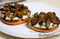 Smoked Oysters on a Bagle: The Downtown Bohemian  #Foodie #Seafood #NewRecipe #Recipe #Lunch