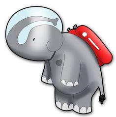 Mr. Space Elephant by Veau-Veau.deviantart.com