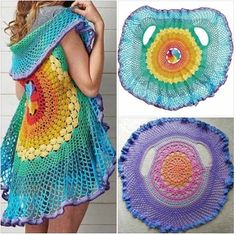 This is crocheted especially as a vest from a special pattern, but inspiration for one made from a crochet tablecloth