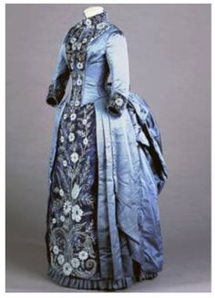 "1885, ensemble to be worn after the wedding. ""Galliera, City of Paris Fashion Museum, in conjunction with the French Embassy and the Ministry of Heritage and Culture, City of Paris and Paris Musee"""