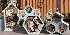 Bee and insect hotels made by Marta Zientek and Wojciech