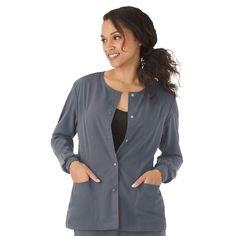 Plus Size Jockey Scrubs Classic Long Sleeve Jacket, Dark Blue Scrub Jackets, Womens Scrubs, Princess Seam, Business Women, Work Wear, Plus Size, My Style, Long Sleeve, Fashion Design