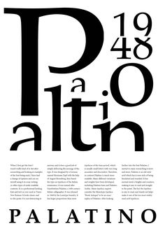 poster inspiration...NOT Didot