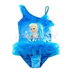 b02a769faa Girls Princess Frozen Queen Elsa Swimwear Ruffle Tutu Swimsuit Bathing Suit  #Fashion #Swimsuit Girls